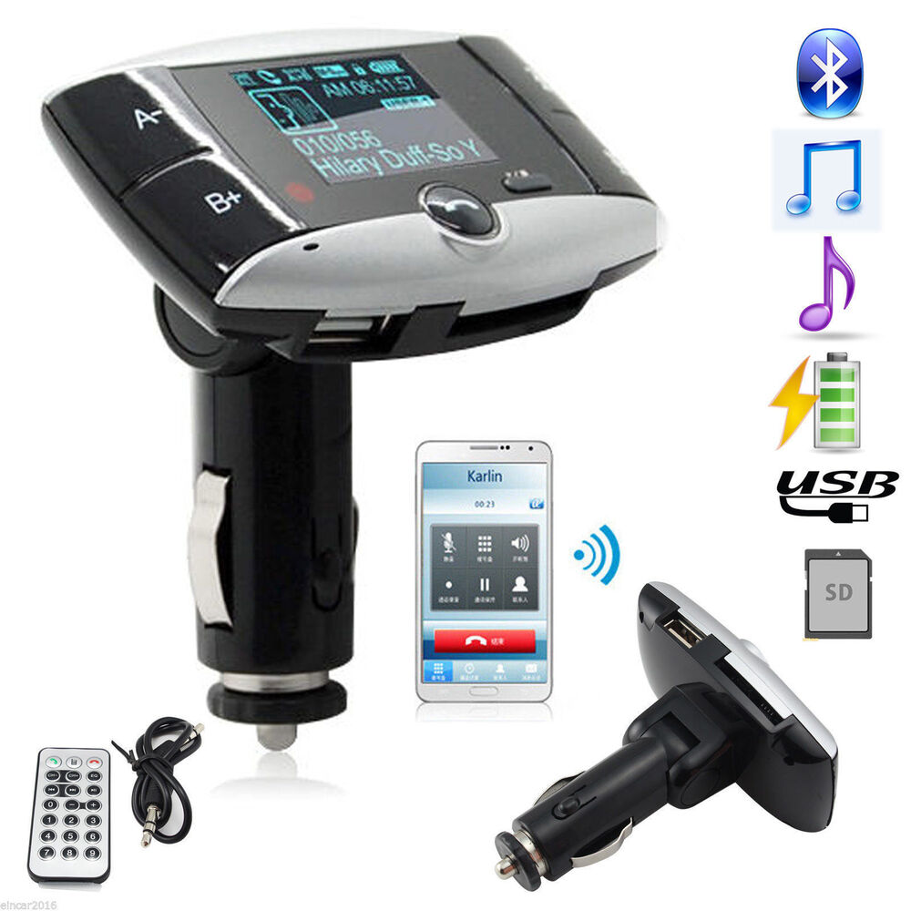 1 5 lcd car kit bluetooth mp3 player fm transmitter. Black Bedroom Furniture Sets. Home Design Ideas