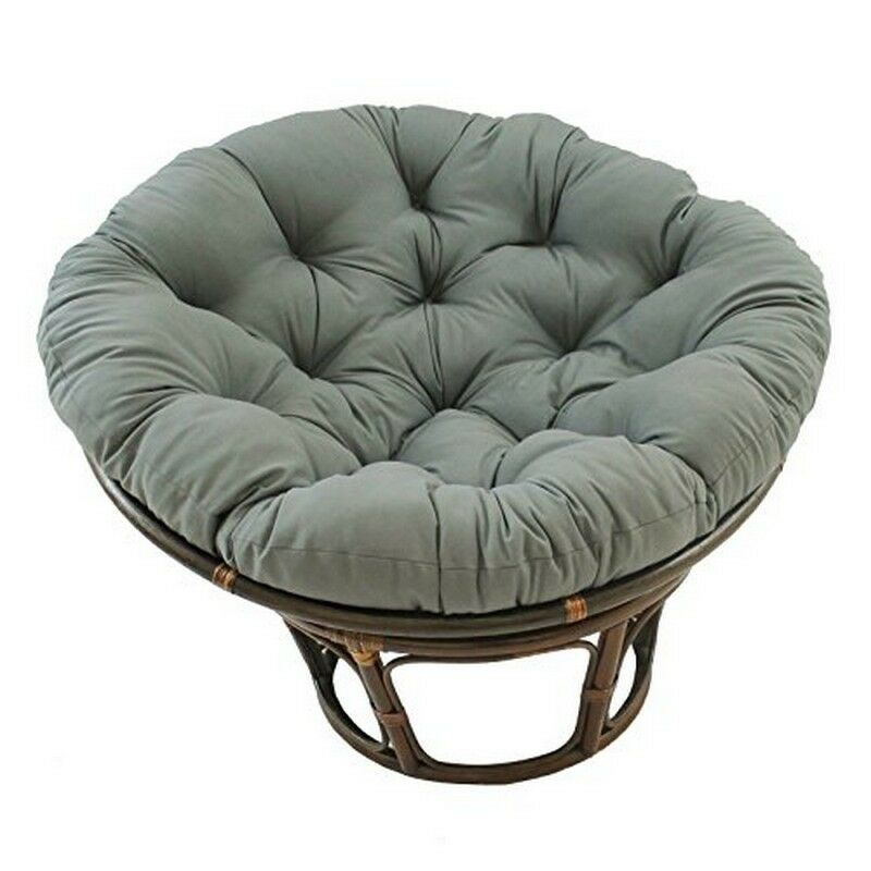 International Caravan 42 Inch Rattan Papasan Chairw Solid
