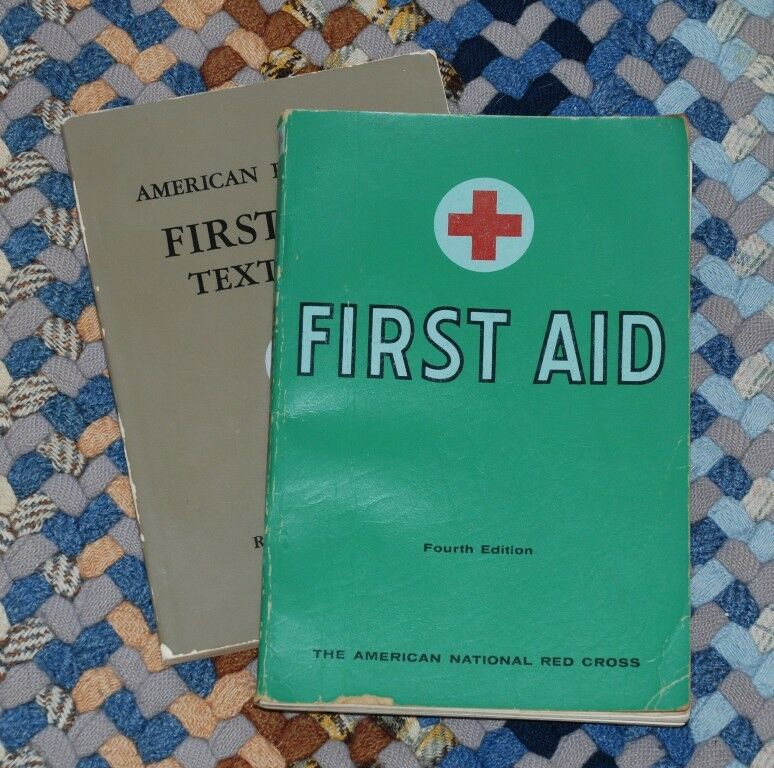 52ad2237d3b Details about Vintage American Red Cross First Aid books Manuals 1945   1957