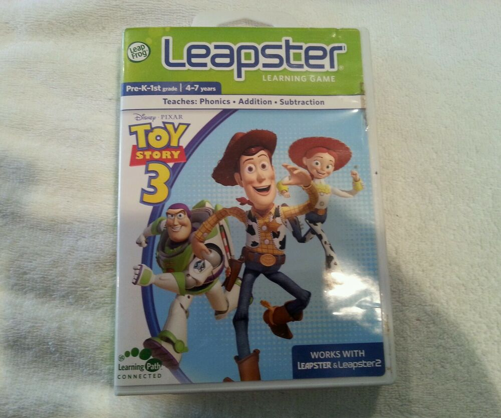 LEAPSTER Learning Game Toy Story 3 Phonics Fun Word ...