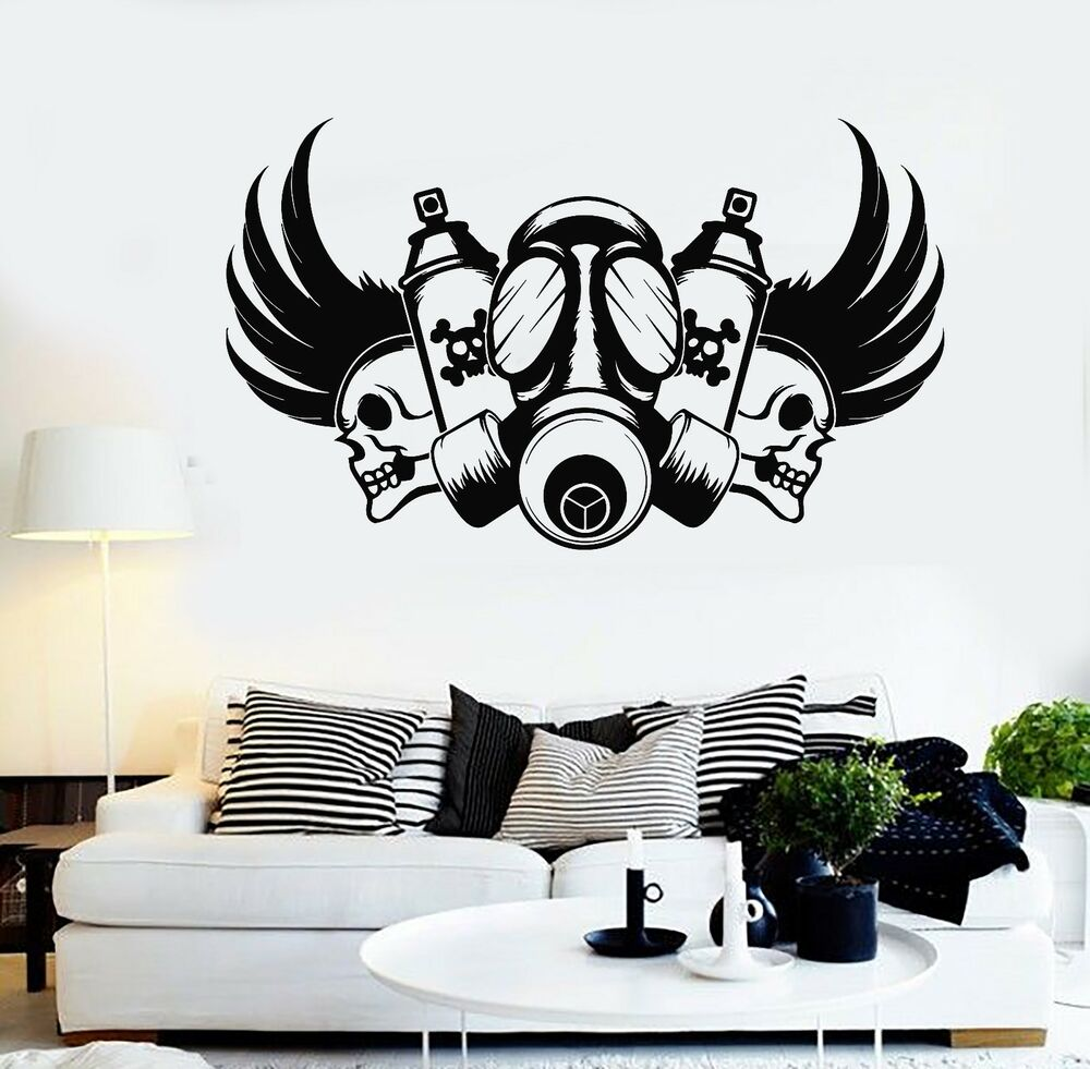 28 wall stickers graffiti personalised blue graffiti wall wall stickers graffiti vinyl wall decal graffiti artist skull gas mask stickers