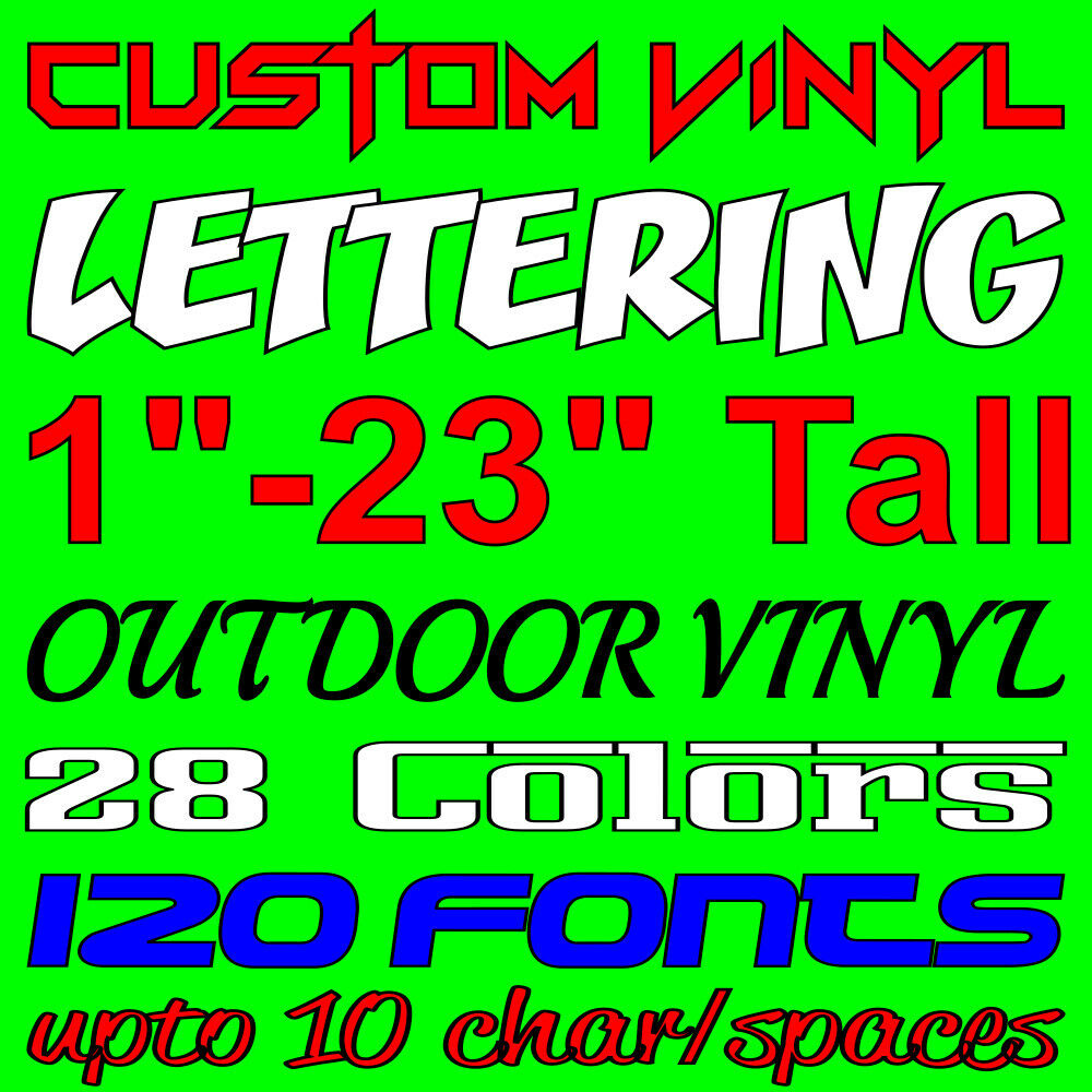 Custom Vinyl Lettering Personalized Car Window Laptop Wall
