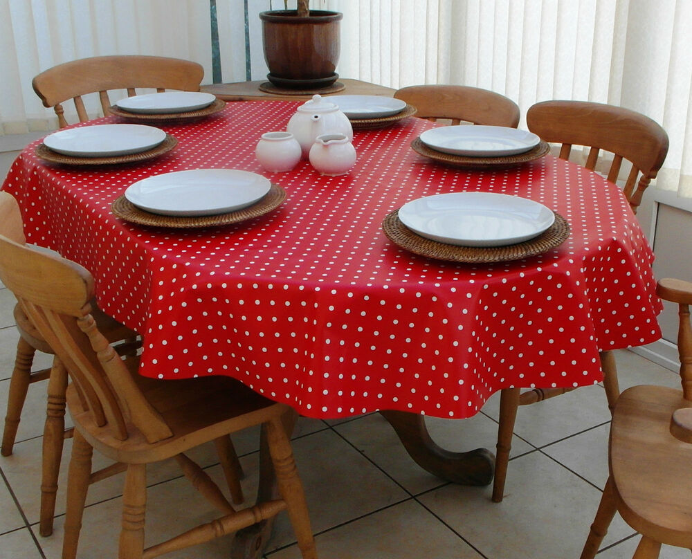 140x200cm Oval Pvc Vinyl Oilcloth Tablecloth Red Amp White