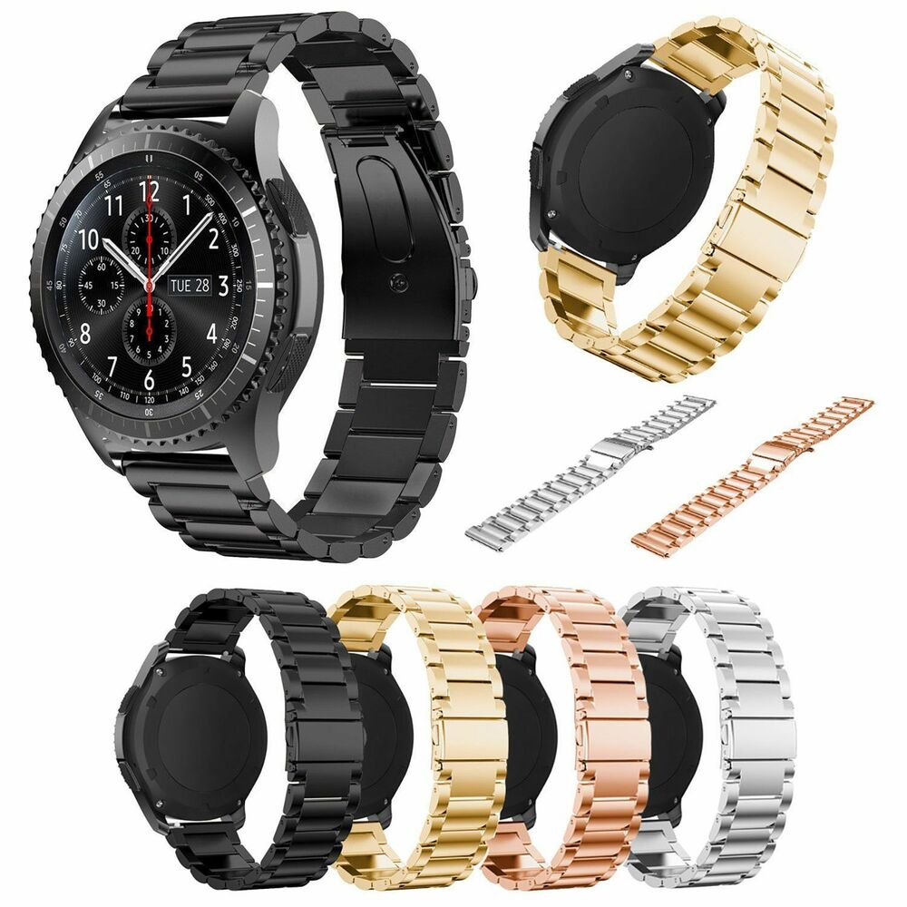 stainless steel strap wrist band bracelet for samsung gear s3 frontier classic ebay. Black Bedroom Furniture Sets. Home Design Ideas