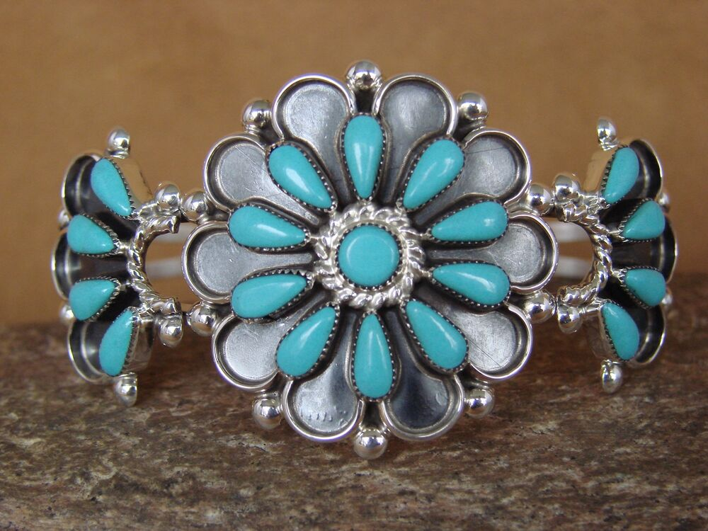 Small Native American Jewelry Sterling Silver Turquoise