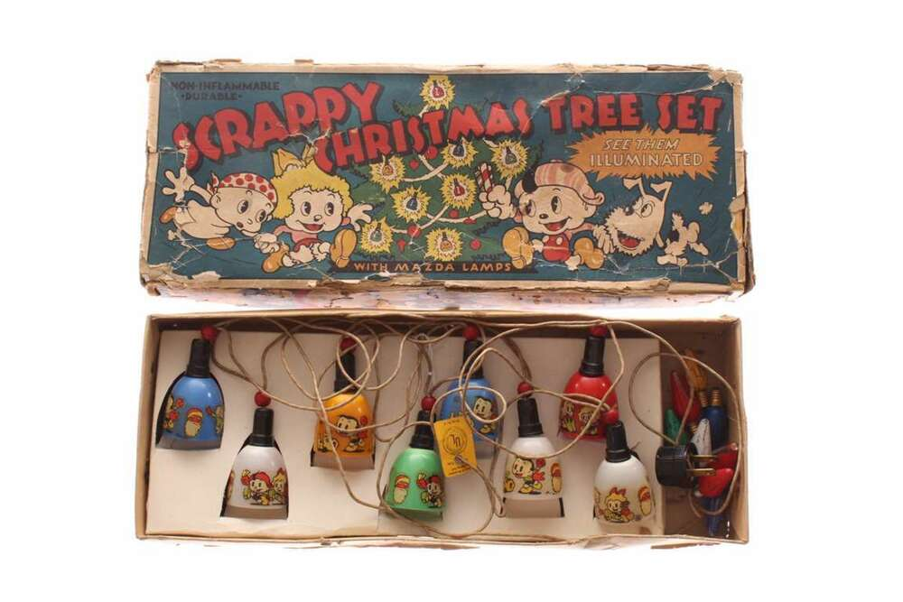 Old Antique 1930s Scrappy Christmas Tree Light Set