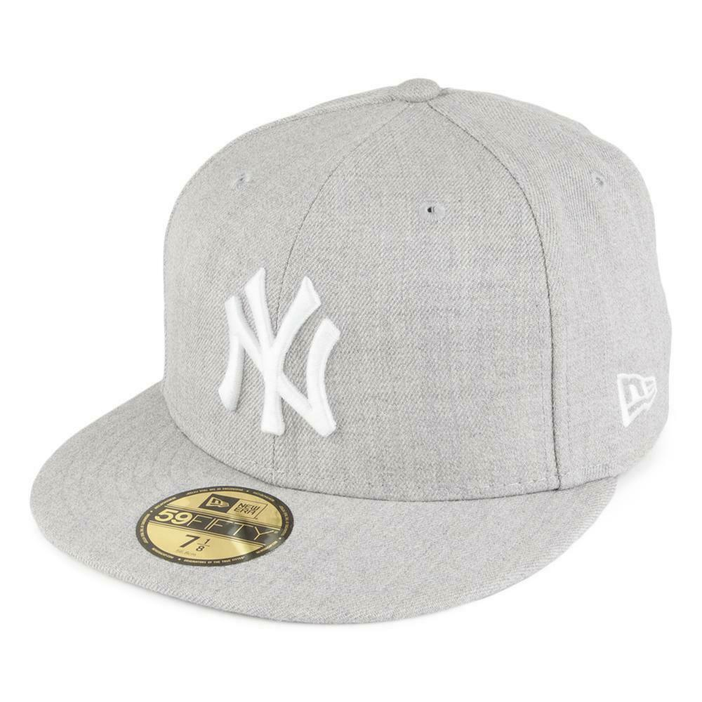 0cf29967ae2 Details about NEW ERA 59FIFTY FITTED CAP. MLB BASIC NY YANKEES. HEATHER  GREY. (FREE NE BOX)