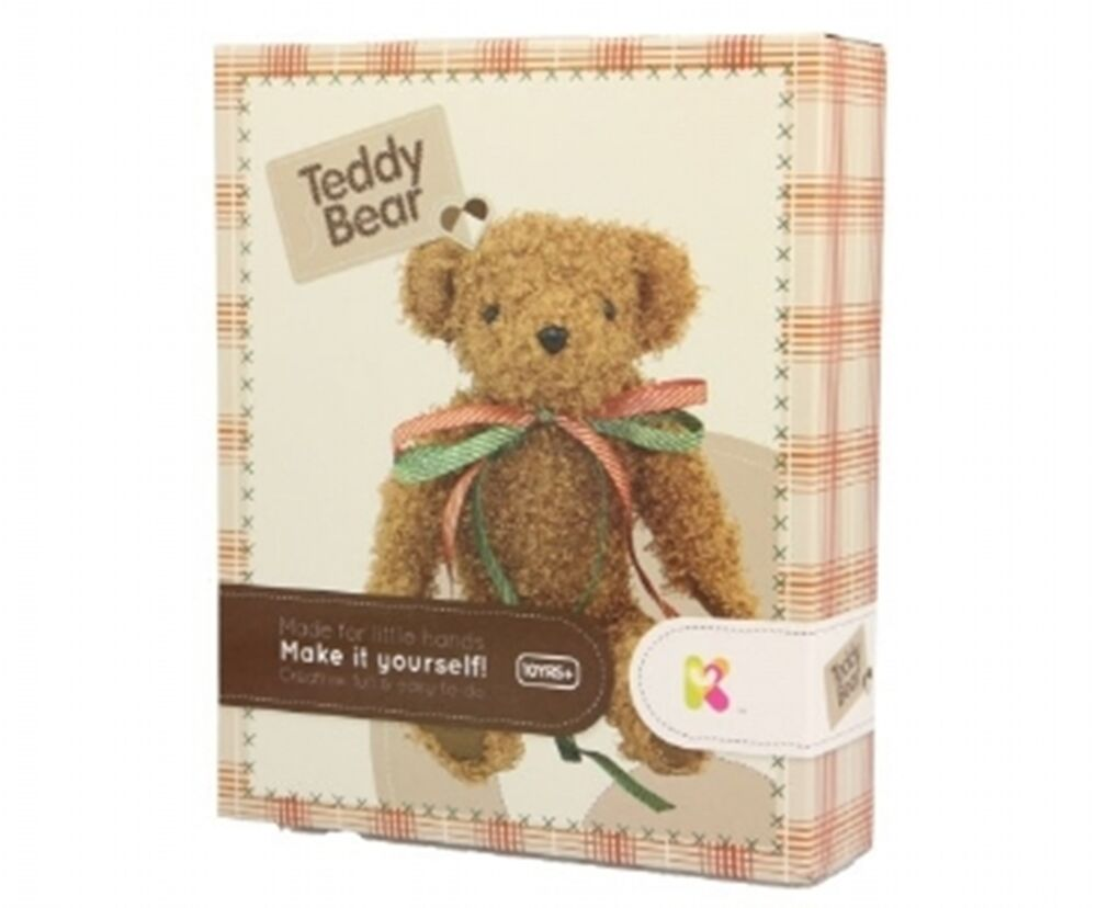 Your own make teddy bear kit craft toy soft kids build for Make your own teddy bear template