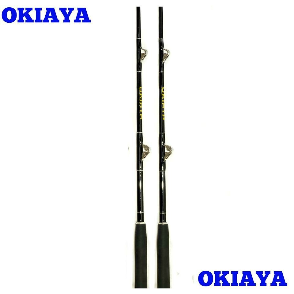 Okiaya composit 80 130lb tuna tango 2 pack saltwater big for Big game fishing rods