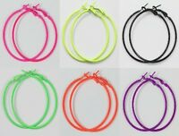 12Pcs 20,30,40,50,60,70,80,90mm fluorescence color Basketball Wives Hoop Earring