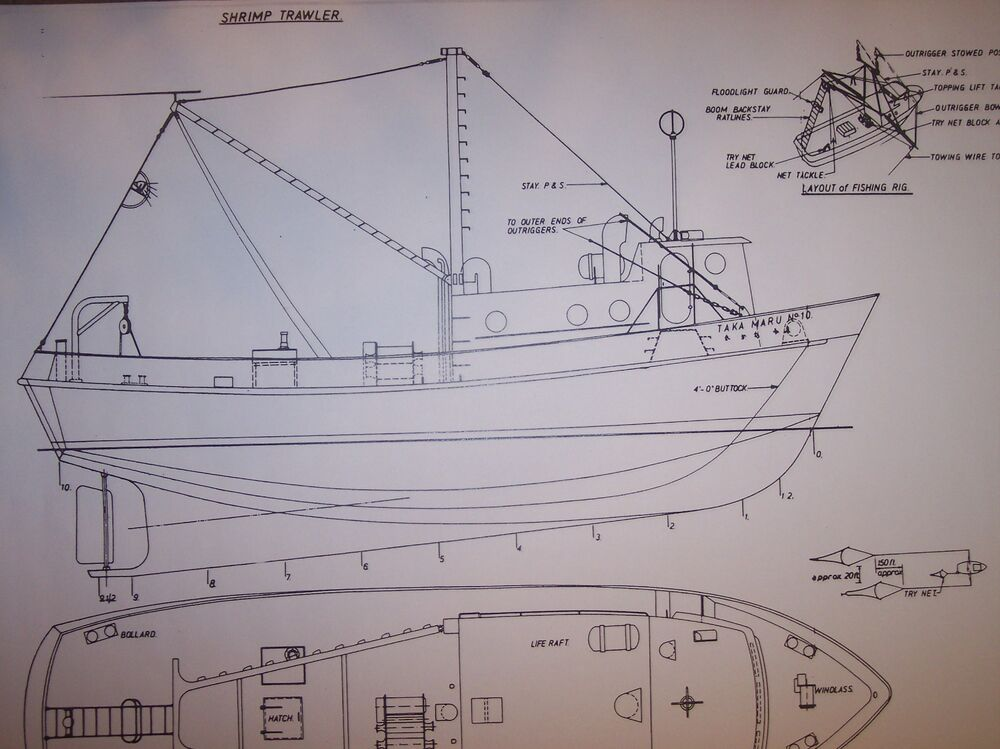 Shrimp Boat Model Plans | Free Boat Plans TOP