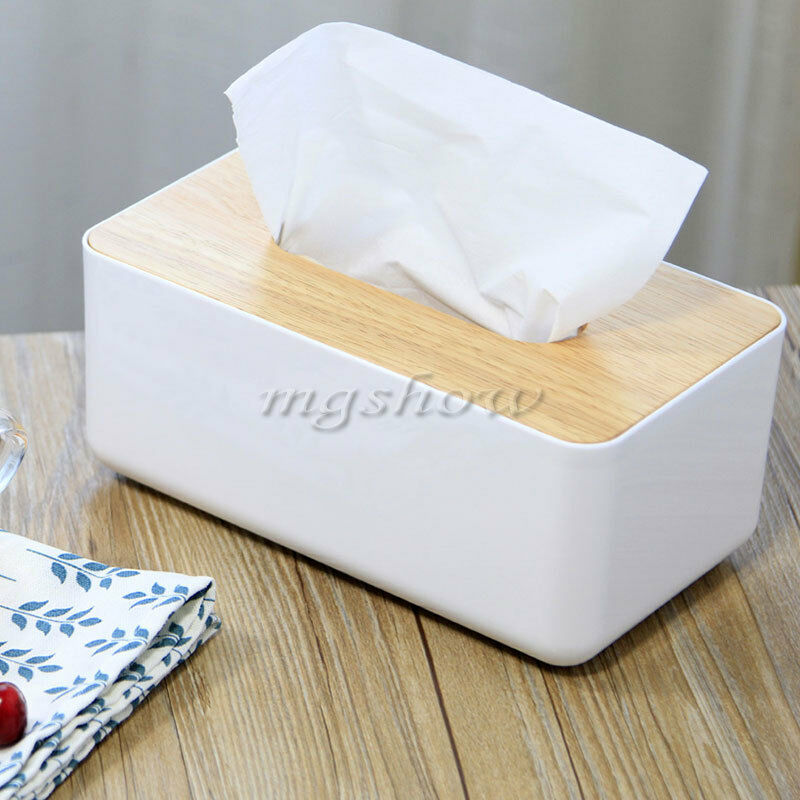 plastic home bathroom car hotel tissue box wooden cover paper napkin holder case ebay