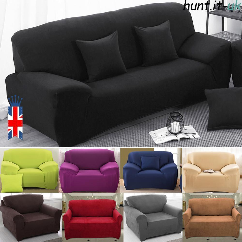 New Slipcover Stretch Sofa Cover Sofa With Loveseat Chair: 1/2/3 Seater Sofa Slipcover Stretch Protector Soft Couch