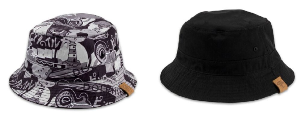 bbfb6b90da03e Details about Pink Dolphin TIMELESS BUCKET Grey Black Reversible Bucket Hat  Men s Hat