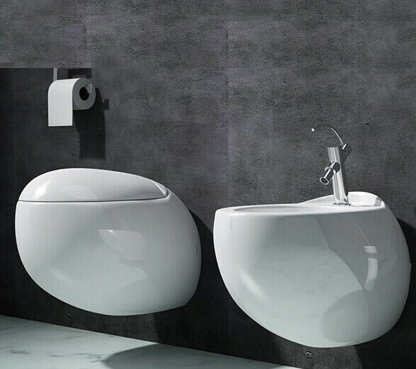 swiss madison plaisir wall hung toilet bowl soft closing seat white ebay. Black Bedroom Furniture Sets. Home Design Ideas
