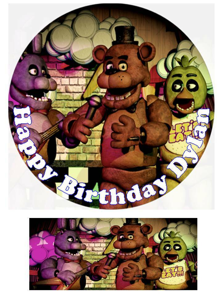 Five Nights at Freddy's Personalized Edible Cake toppers ...