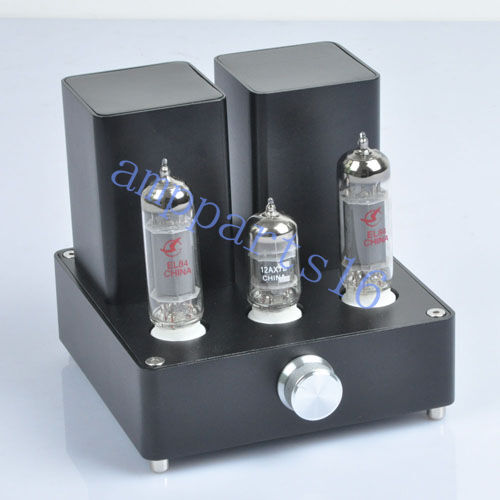 Black Mini Vacuum Tube AMP Audio Amplifier APPJ EL84 ...