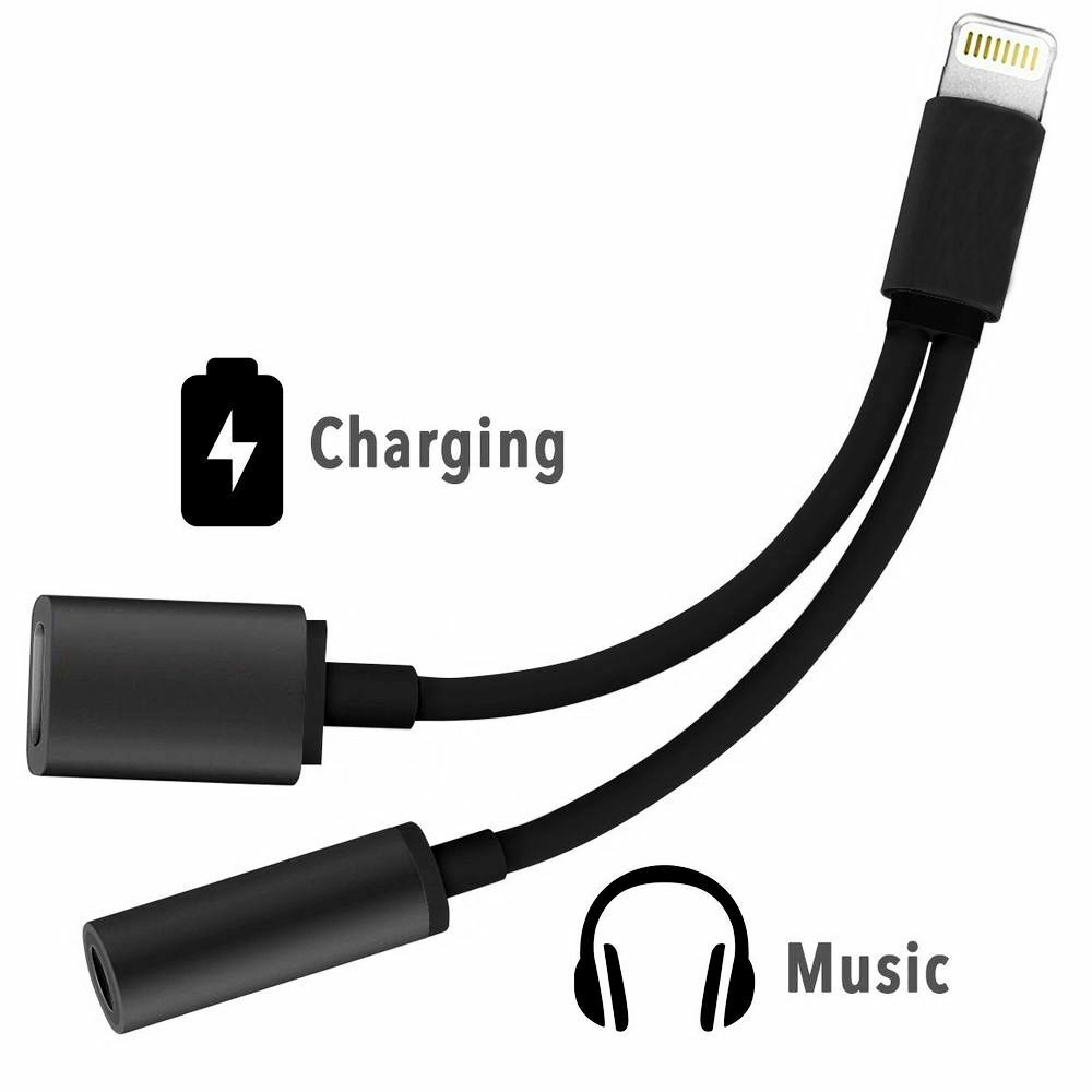 charger audio jack headphone adapter cable for iphone x xs. Black Bedroom Furniture Sets. Home Design Ideas