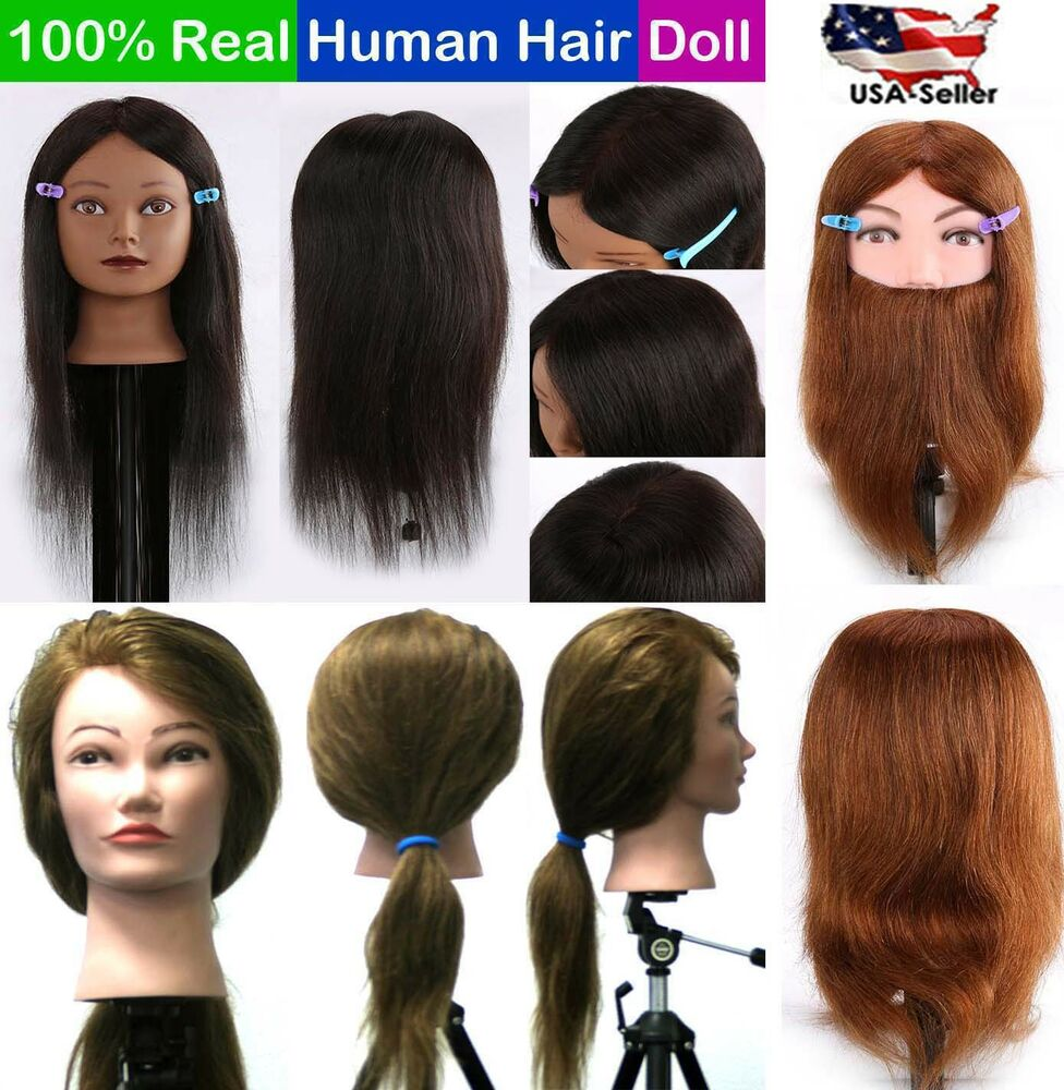 Cosmetology Mannequin Head 100 Real Human Hair