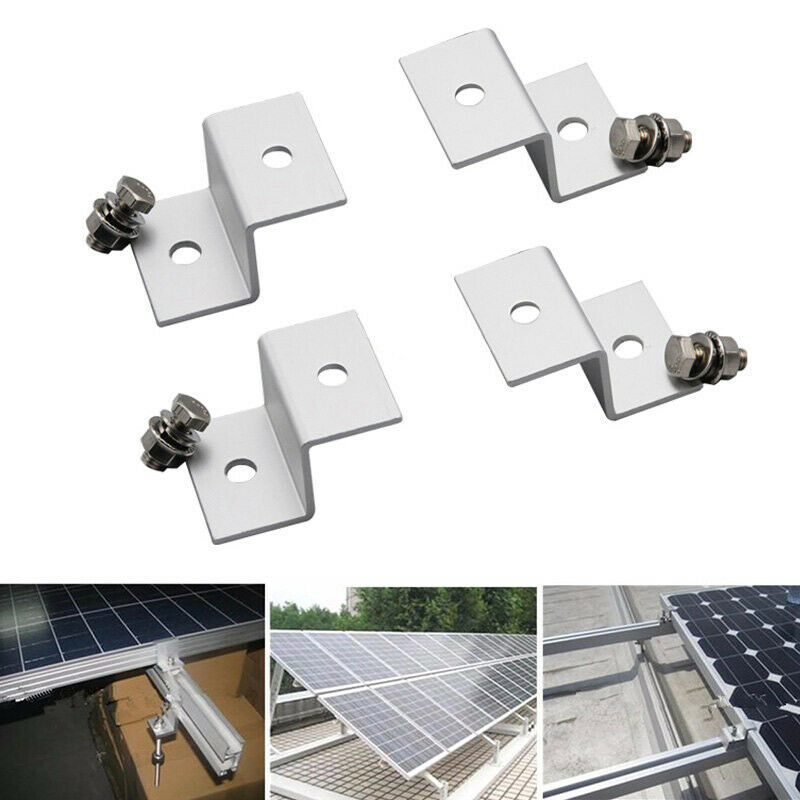 1 Set 4pcs Solar Panel Mounting Z Type Bracket Aluminum