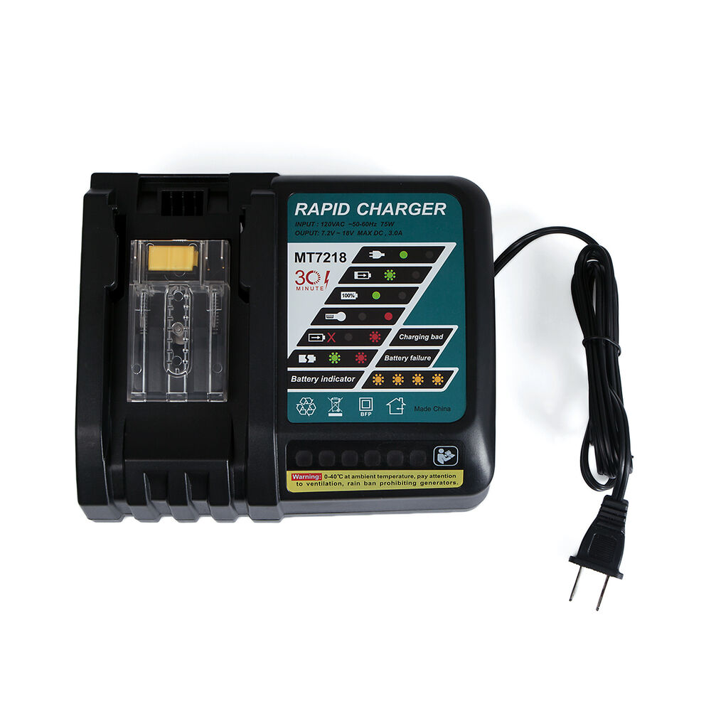 For Makita Lxt Dc18rc Fast Battery Charger 18 Volt Bl1830 Bl1815 Bl1840 Bl185060 Ebay