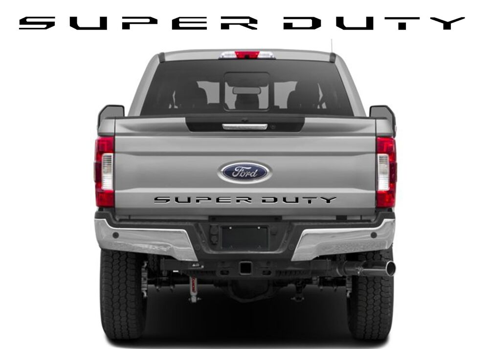Abs Plastic Black Super Duty Tailgate Letters For 2017 F