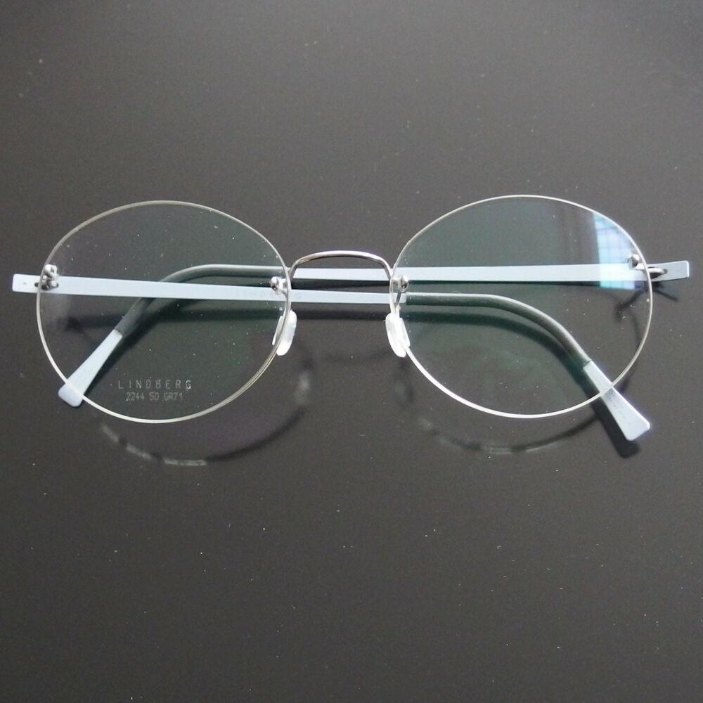 Rimless Glasses Denmark : LINDBERG SPIRIT 2244 ROUND RIMLESS EYEGLASSES SPECTACLE ...