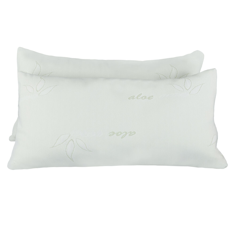 2 Pack Bamboo Memory Foam Bed Pillow 2 Size Hypoallergenic