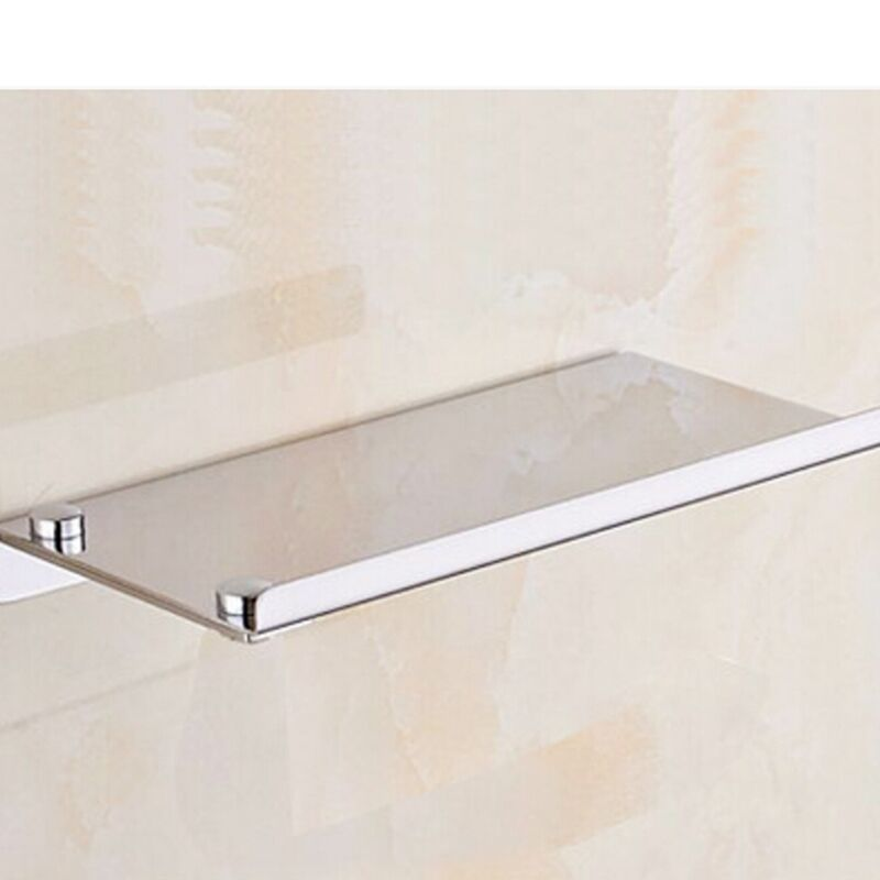 Wall mounted chrome stainless steel bathroom shelf holder - Bathroom shelves stainless steel ...