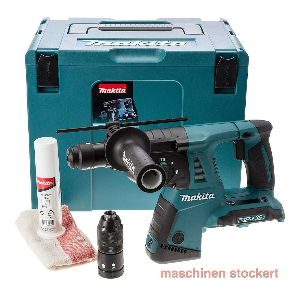 makita dhr264zj akku bohrhammer 2 x 18v schnellwechselfutter sds plus aufnahme ebay. Black Bedroom Furniture Sets. Home Design Ideas