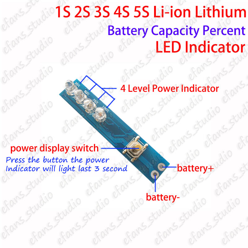1s 2s 3s 4s 5s Lithium Li Ion Battery Bms Capacity Guage