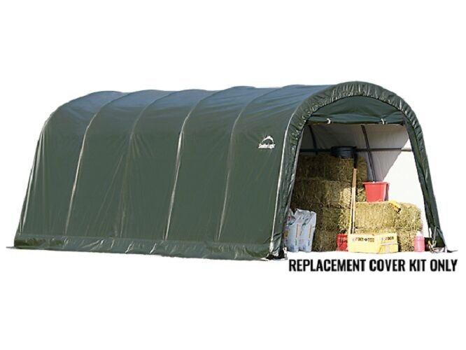 10x20 Shelterlogic Replacement Parts : Shelterlogic replacement cover round garage in a box