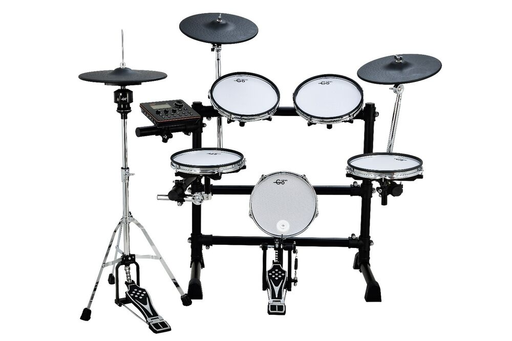 goedrum re6 electronic drum set electric drum kit digital drum mesh edrums ebay. Black Bedroom Furniture Sets. Home Design Ideas
