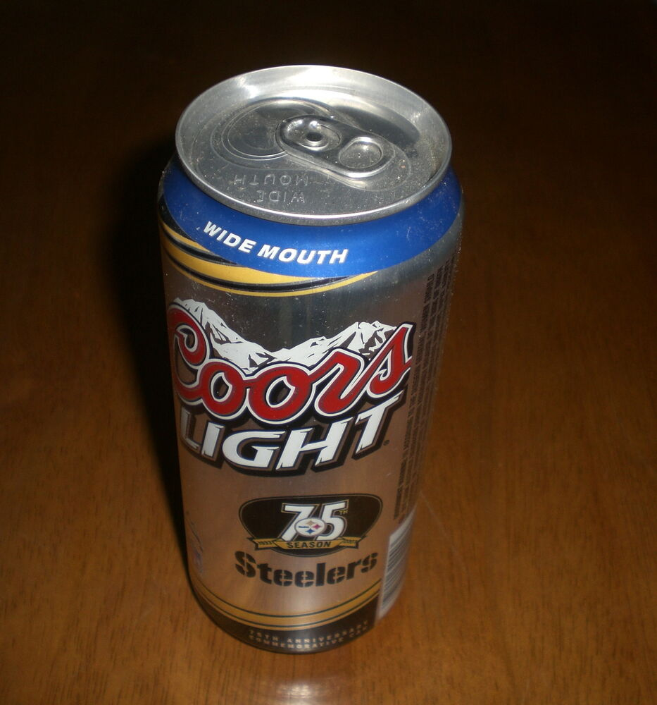 75 YEARS PITTSBURGH STEELERS COORS LIGHT BEER CAN - 16 ...