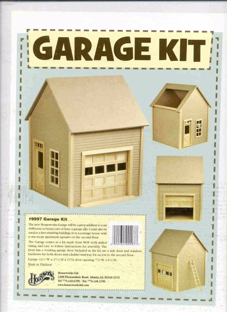 G 1 House Design: Garage Kit By Houseworks 9997 Unfinished Wood 1/12 Scale