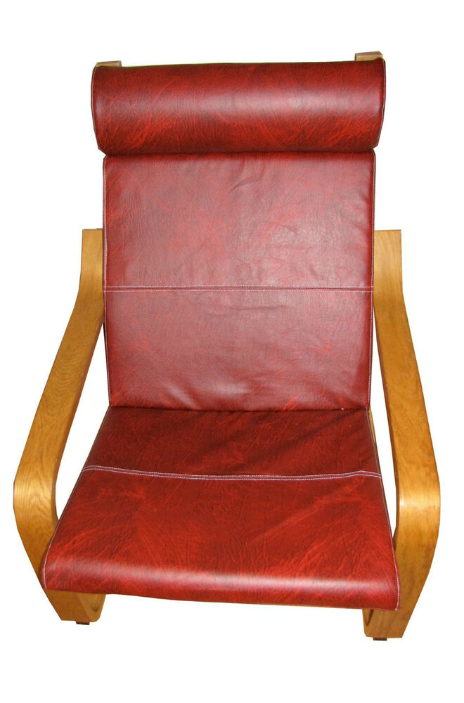 Cover For Ikea Poang Chair Alamo Red Ebay