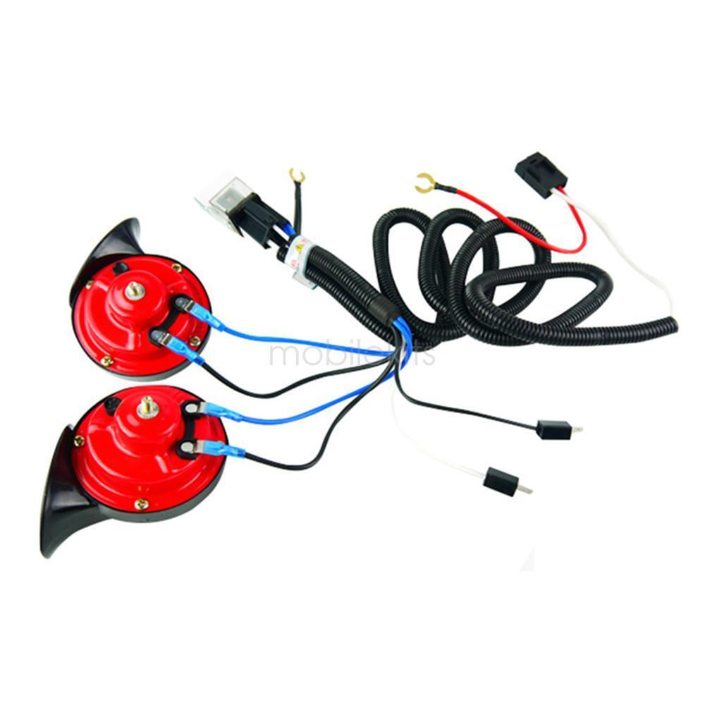 12v Truck Car Horn Relay Wiring Harness Kit For Grille