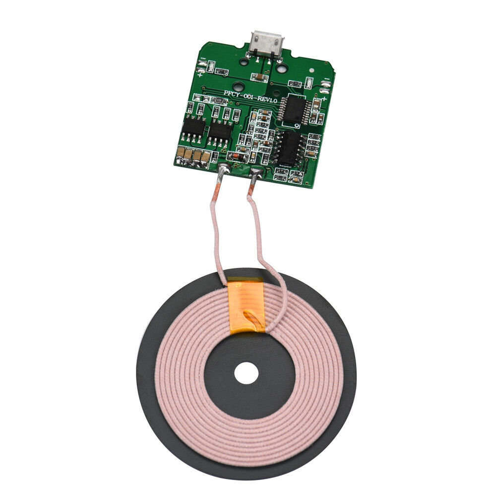 qi wireless charger pcba circuit board coil wireless charging micro usb port diy 616919611307 ebay. Black Bedroom Furniture Sets. Home Design Ideas