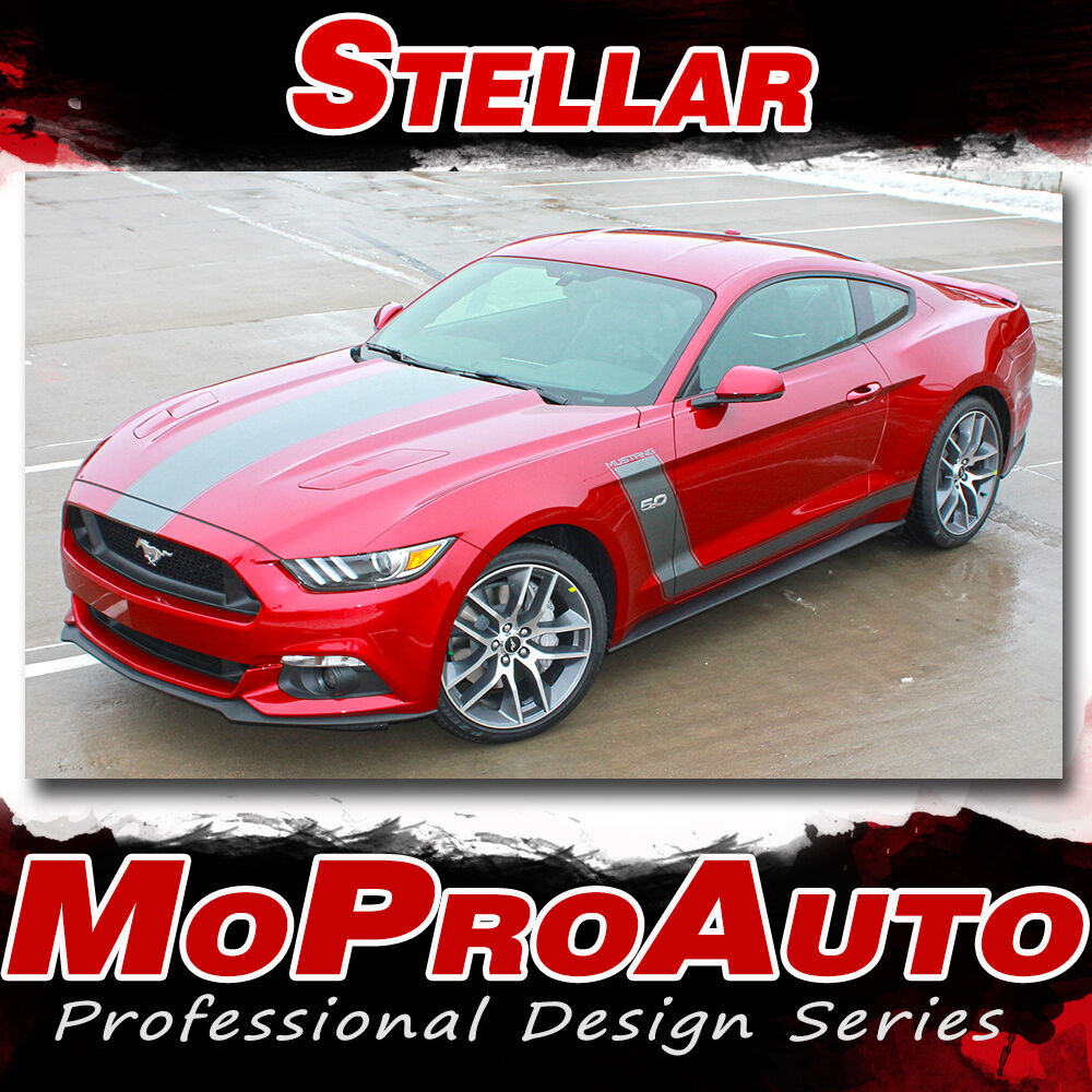 2015-2017 Ford Mustang STELLAR Racing Stripes Decals 3M ...