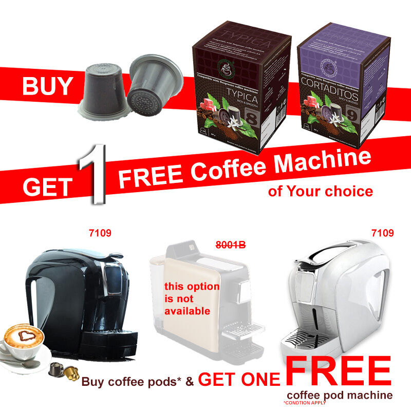 Buy 200 Nespresso Camptiable Coffee Capsules get 1 Free ...