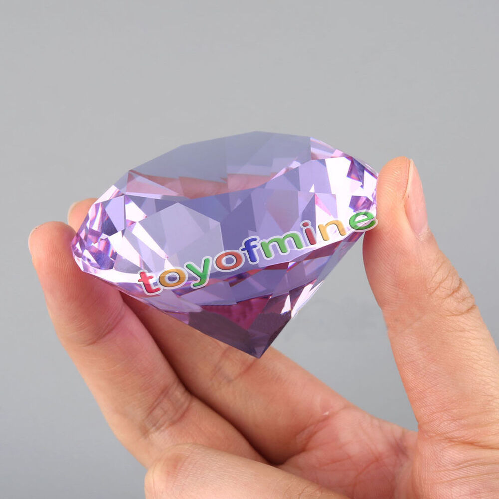 Big 60mm crystal paperweight cut glass large giant diamond How can i cut glass at home