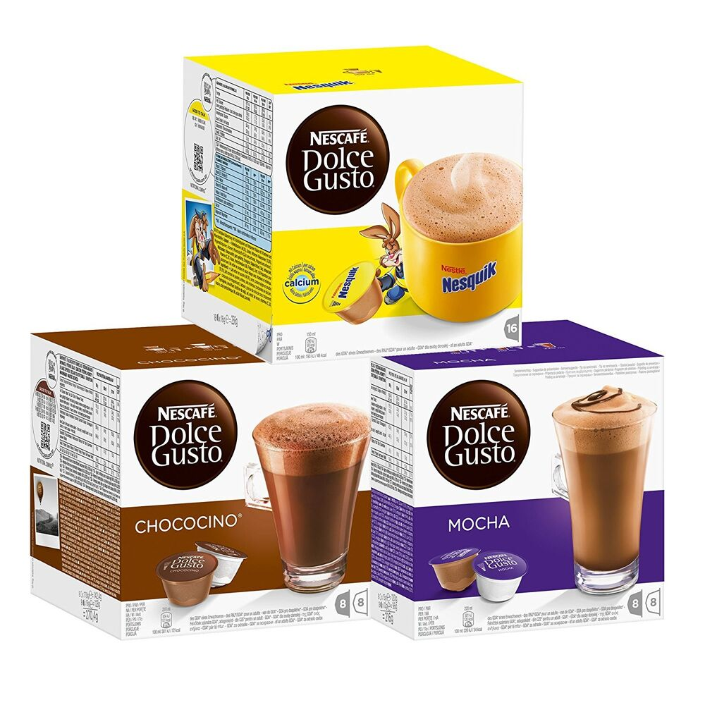nescafe dolce gusto chocolate collection includes mocha. Black Bedroom Furniture Sets. Home Design Ideas