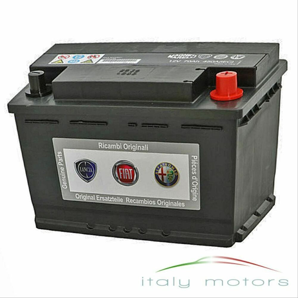 original ricambi alfa romeo fiat lancia batterie 71751146 51080723 12v 70ah 450a ebay. Black Bedroom Furniture Sets. Home Design Ideas