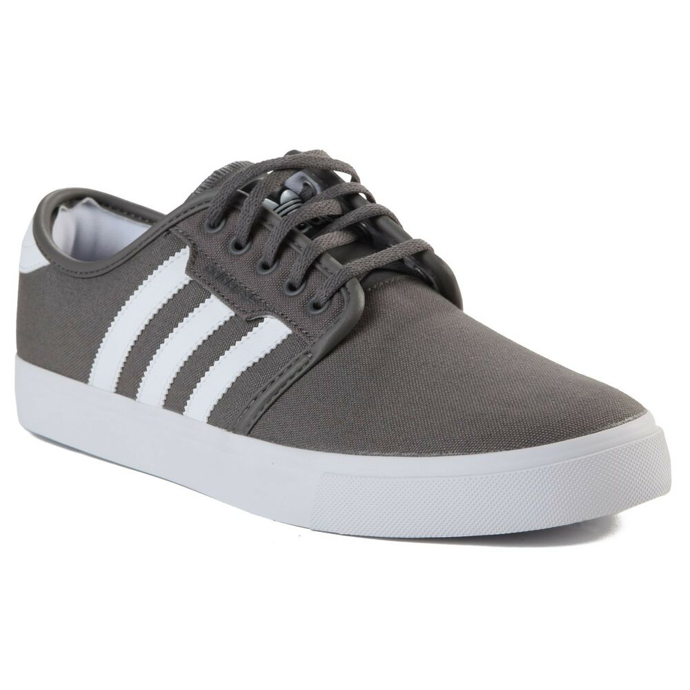 competitive price c31c4 7a142 Details about Adidas SEELEY Mid Cinder Running White Black Skateboarding  (209) Mens Shoes