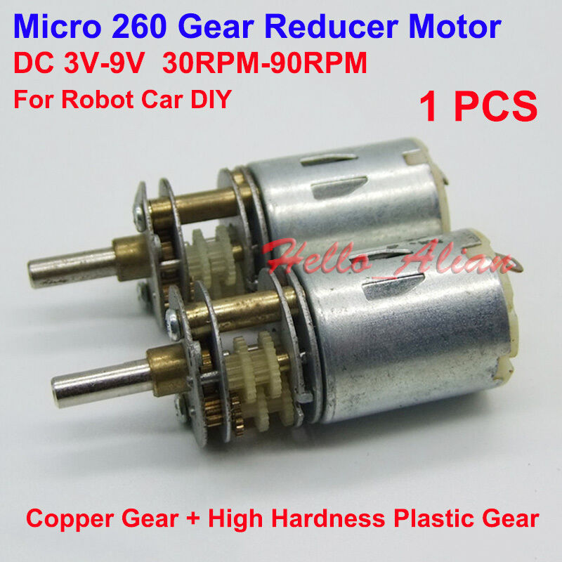 Dc 3v 6v 9v 90rpm mini micro gearbox gear motor low speed for Low speed dc motor 0 5 6 volt