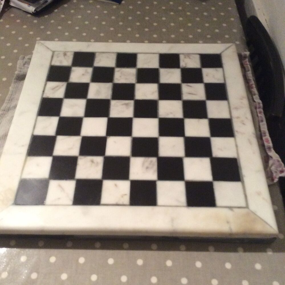 Marble chess board made to order size 500x500mm ebay - Chess board display case ...