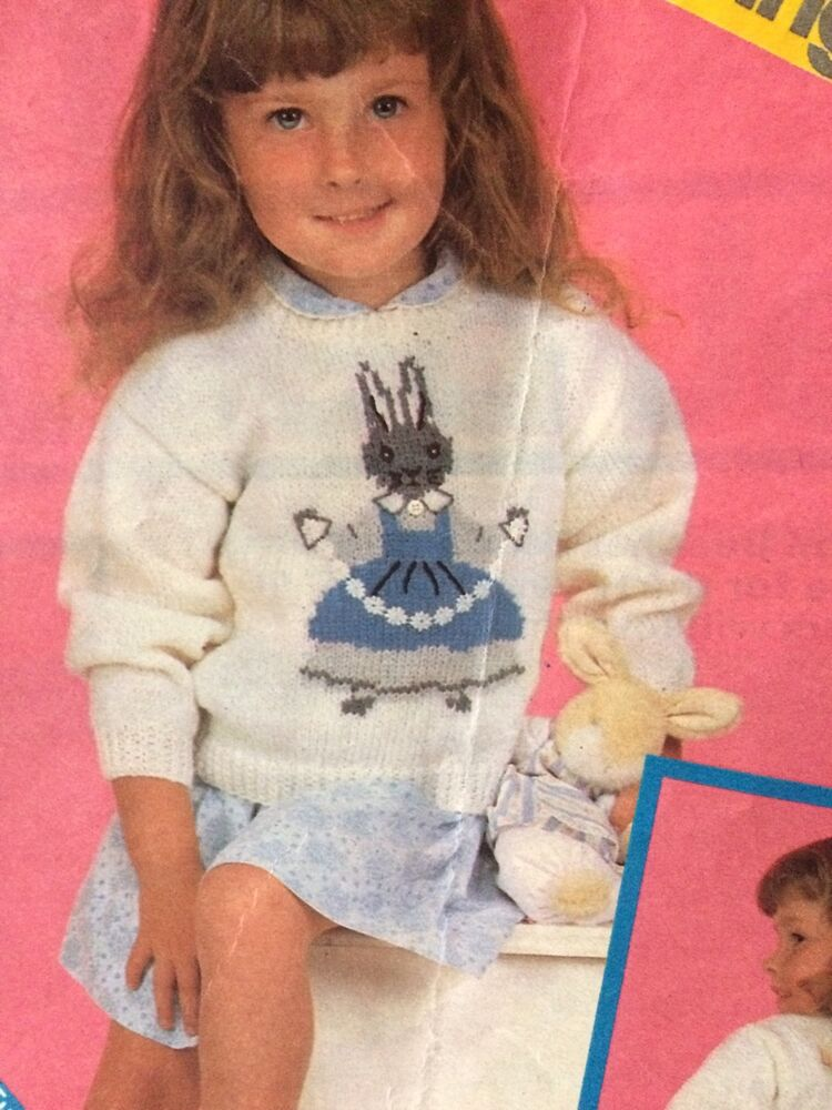 Knitting Pattern For Peter Rabbit Jumper : Little Grey Rabbit Jumper knitting Pattern eBay