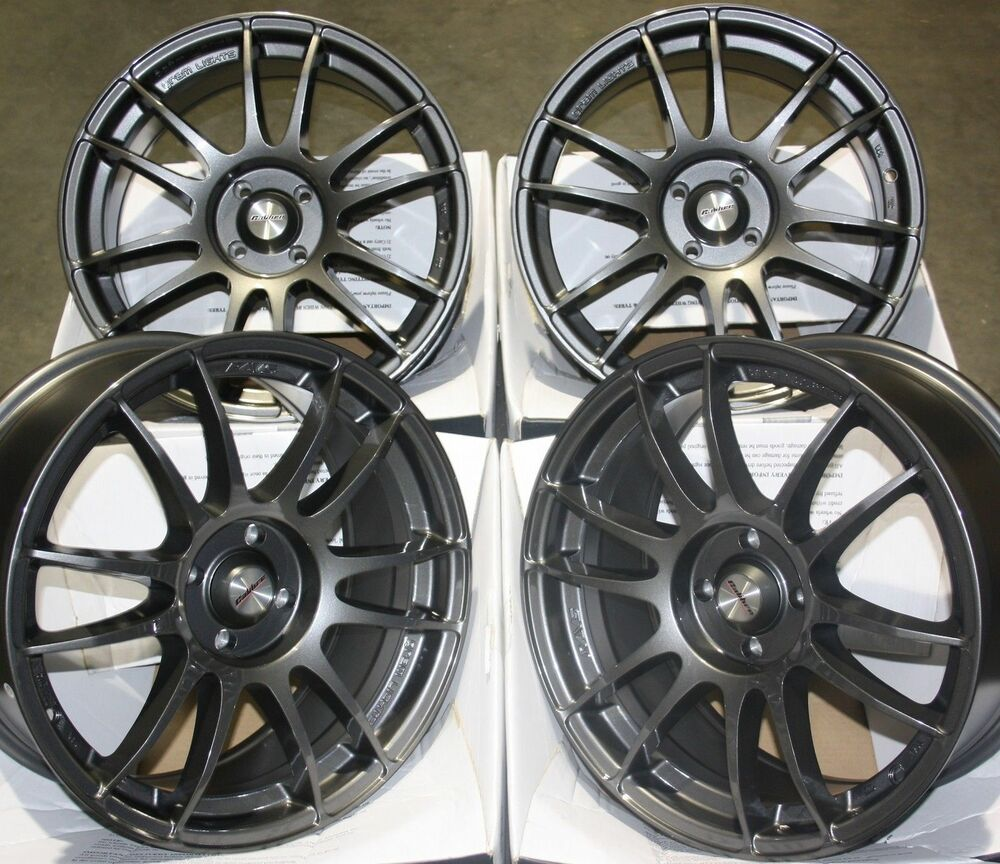 15 gm suzuka alloy wheels fits 4x100 toyota aygo corolla. Black Bedroom Furniture Sets. Home Design Ideas