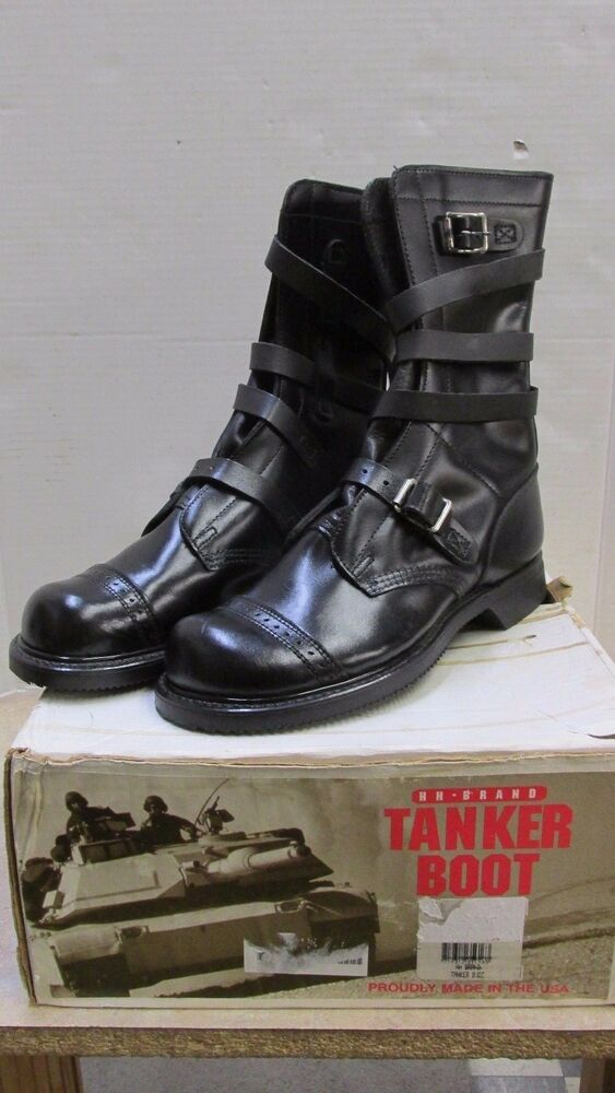 Black Leather Military Shoes