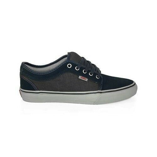 fa6a71a171 Details about VANS CHUKKA LOW Navy Blue Chambray Pink Gray Discounted (333) Kid s  Shoes